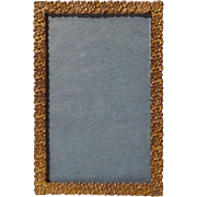 """GOLD-PLATED Brass Antique  Floral Picture Frame 2"""" X 3"""""""