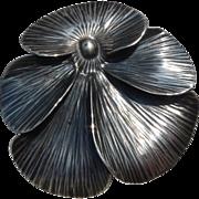 SALE STUART NYE Sterling 1939 Pansy Pin