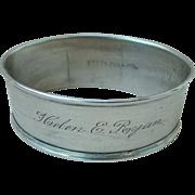 """WEBSTER Sterling Napkin Ring """"Helen E. Ryan"""""""