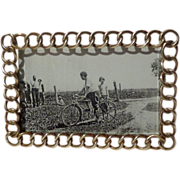 SOLD HORIZONTAL English Brass Miniature Antique Ring Picture Frame