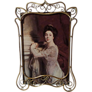 """SOLD ART NOUVEAU English Brass """"Whiplash"""" Picture Frame ca. 1900"""