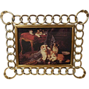 SOLD BRASS RING Horizontal & Vertical Antique D.R.G.M. Picture Frame