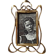 SOLD ART NOUVEAU Small Brass Whiplash Design Picture Frame