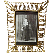 ENGLISH Brass Loop & Ball Antique Picture Frame