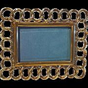 Mini Brass HORIZONTAL Ring Frame Beveled Glass