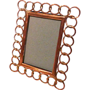 Mini COPPER English Ring Picture Frame