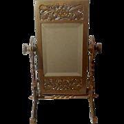 Swivel AESTHETIC Movement  American Brass Beveled Mirror