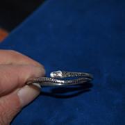 Very Rare Georgian Silver Snake Child's Bracelet