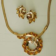 SALE CROWN TRIFARI Alfred Philippe Necklace/Earrings Demi - Poss. Unworn?