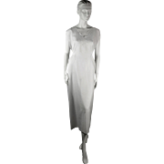 Vintage 1930s Linen Dress with Embroidered Lace Bodice