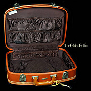 SALE PENDING Vintage 1950s Leather Suitcase or Luggage by Erwin Kalla