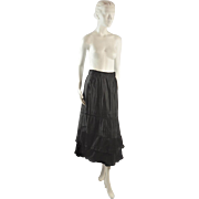Antique Skirt or Petticoat, ca 1915, Larger than Most