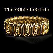 14k Gold Filled Expansion Bracelet, Post-Edwardian c 1915
