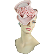 Rare Mid-1930s Pink Women's Couture Topper