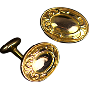 Antique Victorian 14K Gold-Filled Cufflinks For Men Never Worn! c 1899 Jewelry Store Owner's