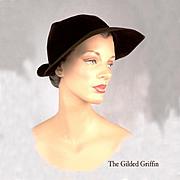 Vintage 1930s Fur Felted Hat, Exquisite!!
