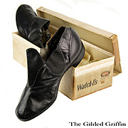 Antique Edwardian Prince Albert Slippers Rare and Dated 1907-1908, Still In Original Box
