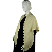 SOLD Antique Shawl or Pelerine Dated, Signed 1805