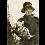Historical c 1923 Christmas in Florida Snapshot