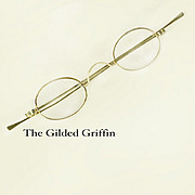 Authentic Victorian 10k White Gold Eyeglasses - Unusually Large Sizing