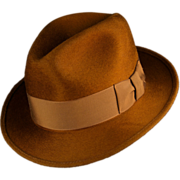SOLD Vintage 1950s Red Fox Fedora, Magnificent Fur and Wool Felt
