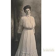 Rare Gibson Girl Style Van De Grift Portrait Photograph with Incredible Logo Illustration Engr