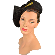 Vintage Hat! Early 1930s Sculpted Hat With Original Hatpin