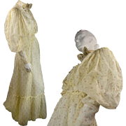 Victorian Dress, Skirt & Bodice, with Early Leg o Mutton Sleeves, in Exquisite Mint Condition