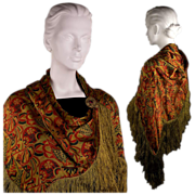SOLD Vintage 1920s Bohemian Shawl for a Flapper's Night Out