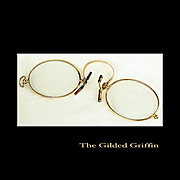 Victorian Pince Nez Spectacles Dated 1892
