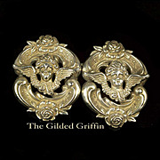 Gift Perfect! Antique Belt Buckle Victorian Sterling Silver Repoussé c 1880