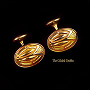 Circa 1899, 14K Gold-Filled Cufflinks Never Worn! Jewelry Store Owner's Estate