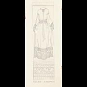 Authentic 1920s Original Graphite Sketch, NOT PRINT, Fashion Illustration