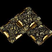 Vintage 1930s H. Pomerantz Celluloid & Brass Buttons, Scarce