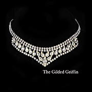 Brilliant 1950s Weiss Rhinestone Necklace in Magnificent Condition