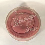 The New 1948 Beaucap Beret Vintage Hat in Original Box