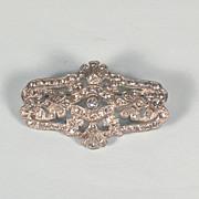 Flashy 1930's Vintage Rhinestone Brooch