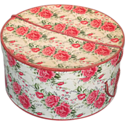 SOLD Pink Roses Mid-Century Modern Decorative Ladies Hat Box - Red Tag Sale Item