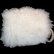 Child's 1950s White Fox Fur Vintage Hand Muff