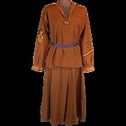 Early Teens Girls Sailing Club Brown Twill Uniform
