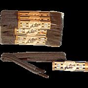 Vintage NOS 12-Pair 1920s Alox Mens 27 inch Brown Shoe Laces