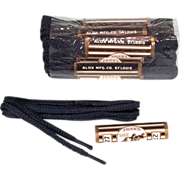 SOLD Vintage NOS 12-Pack 1920s Alox Mens 27 inch Black Shoe Laces