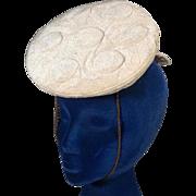 Charming Louie Miller 1930s Vintage Tilt or Topper Hat