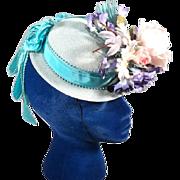 Snappy 1947 Light Teal Porkpie Tilt Topper Vintage Hat