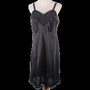 Vintage 50s-60s Black Nylon Full Slip