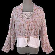 Demure Rose Pattern Edwardian Silk Bodice