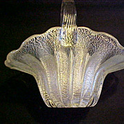 Italian Murano 50's Glass silver foil basket