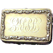 Mauser Sterling Silver Art Nouveau Fitted Cufflink Box
