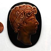 SALE Vintage Margot de Taxco 1930s Pin Eagle 16 Silver & Enamel Roman Head