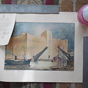 Vintage S Chester Danforth Merchandise Mart Chicago Print With Card From TJ Reed